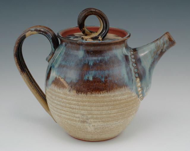 Tea Pot Brown Betty Handcrafted Stoneware Handmade